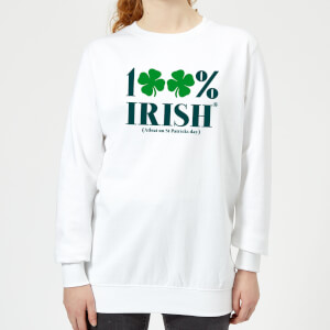 100% Irish* Women's Sweatshirt - White