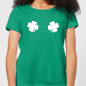 Lucky Boobs Women's T-Shirt - Kelly Green