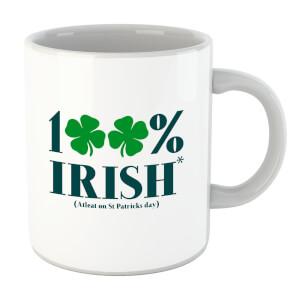 100% Irish* Mug