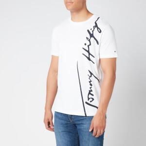 Tommy Hilfiger Men's Large Signature T-Shirt - White