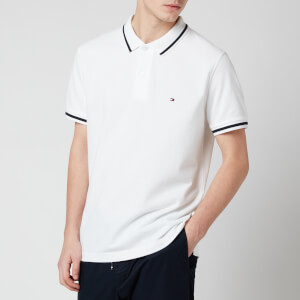 Tommy Hilfiger Men's Basic Tipped Regular Polo Shirt - White