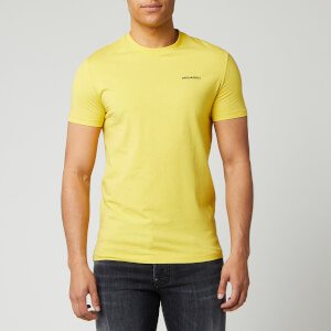 Dsquared2 Men's Chest Logo Melange T-Shirt - Yellow