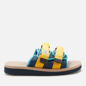 Suicoke Men's Moto-Cab Nylon Slide Sandals - Navy/Tan