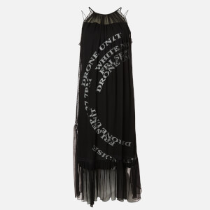 McQ Alexander McQueen Women's Printed Suzuka Maxi Dress - Black