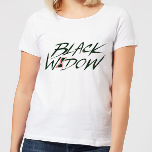 Black Widow Handwriting Women's T-Shirt - White