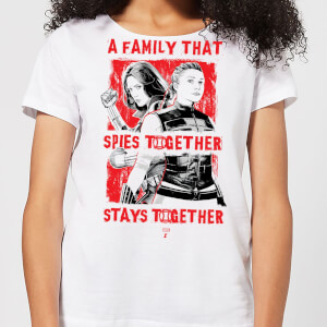 Camiseta Viuda Negra Family That Spies Together - Mujer - Blanco