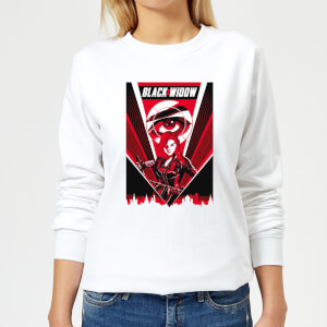 Black Widow Red Lightning Women's Sweatshirt - White