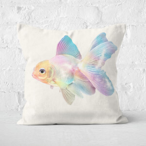 Holographic Goldfish Square Cushion