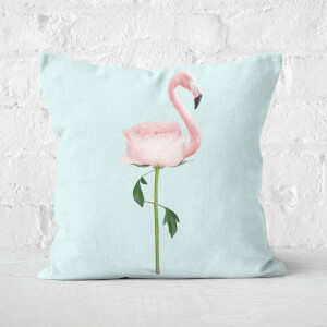 Flamingo Flower Square Cushion