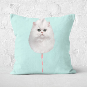 Cotton Candy Cat Square Cushion