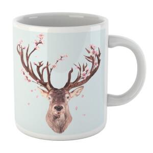 Cherry Blossom Deer Mug