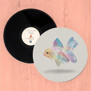 Holographic Goldfish Slip Mat