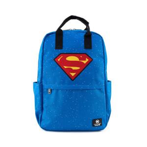 Loungefly Dc Comics Superman Shield And Stars Nylon Backpack