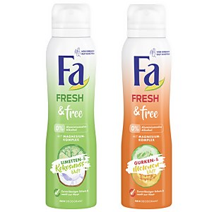 Fa Fresh&Free Deodorant – Limetten- & Kokosnuss-Duft // Gurken- & Melonen-Duft