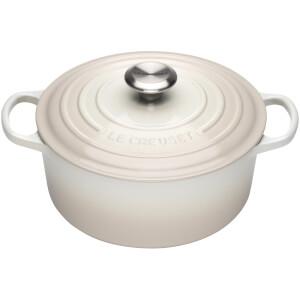 Le Creuset Signature Cast Iron Round Casserole Dish - 24cm - Meringue