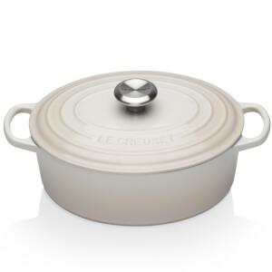 Le Creuset Signature Cast Iron Oval Casserole Dish - 27cm - Meringue