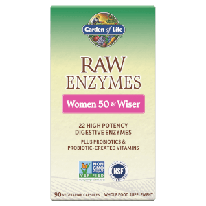 Raw Enzymes Women 50+ and Wiser - 90 Capsules