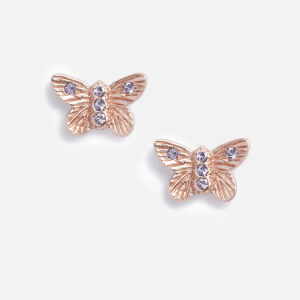 Olivia Burton Women's Bejewelled 3D Butterfly Stud Earrings - Rose Gold & Blue Crystal