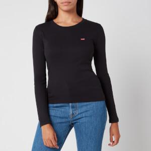 Levi's Women's Long Sleeve Baby T-Shirt - Caviar