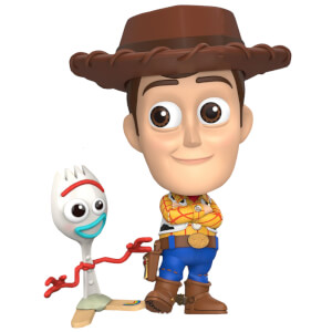 Lot de 2 figurines Cosbaby Woody et Forky Toy Story 4 - Taille S - Hot Toys