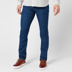 Jacob Cohen Men's Orange Badge Slim Denim Jeans - Dark Blue