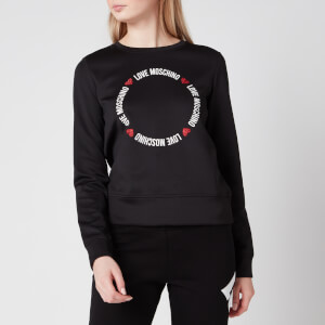 Love Moschino Women's Round Logo Sweatshirt - Black