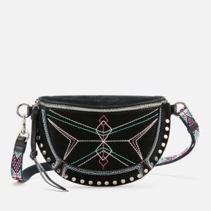Isabel Marant Women's Skano Stitching Hobo Bag - Black