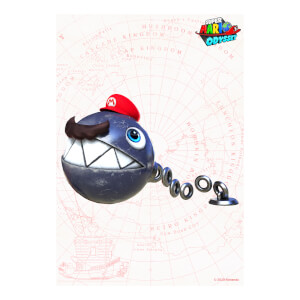 Big Chain Chomp (Super Mario Odyssey) Art Print