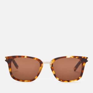 Saint Laurent Men's Sl 341 Wellington Frame Sunglasses - Havana/Brown