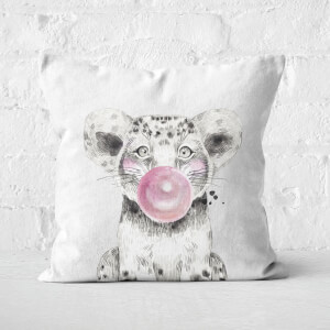 Bubblegum Cub Square Cushion