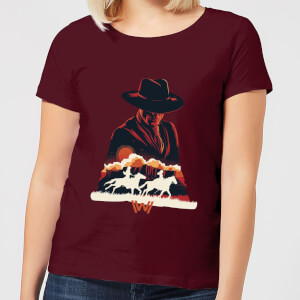Westworld The Door Women's T-Shirt - Burgundy