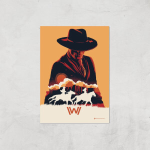 Westworld The Man In Black A2 Giclee Art Print