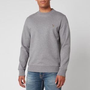 PS Paul Smith Men's Zebra Logo Regular Fit Sweatshirt - Grey Melange