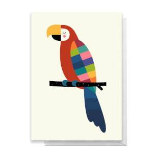 Andy Westface Rainbow Parrot Greetings Card