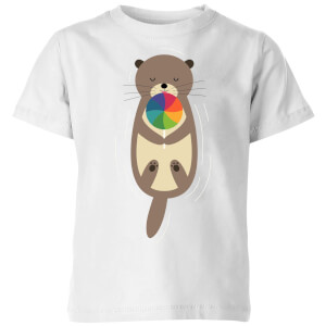 Andy Westface Sweet Otter Kids' T-Shirt - White