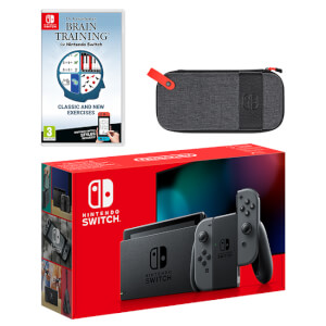 Nintendo Switch (Grey) Dr Kawashima's Brain Training for Nintendo Switch Pack