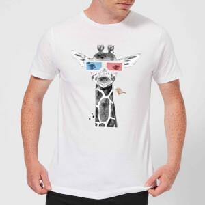 3D Giraffe Men's T-Shirt - White