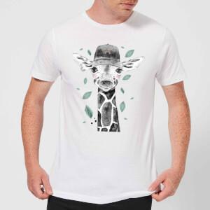 Rainbow Giraffe Men's T-Shirt - White