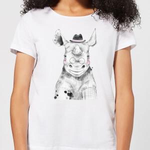 Literate Rhino Women's T-Shirt - White