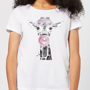 Bubblegum Giraffe Women's T-Shirt - White