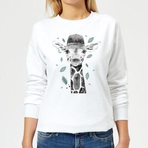 Rainbow Giraffe Women's Sweatshirt - White