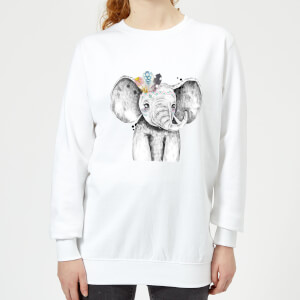 Indie Elephant Women's Sweatshirt - White