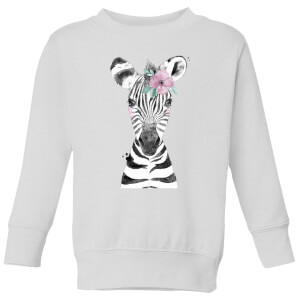 Floral Zebra Kids' Sweatshirt - White