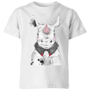 Clown Rhino Kids' T-Shirt - White