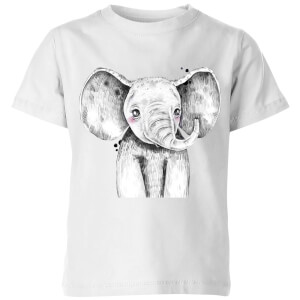 Cute Elephant Kids' T-Shirt - White
