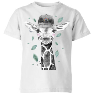 Rainbow Giraffe Kids' T-Shirt - White