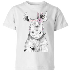 Indie Rhino Kids' T-Shirt - White