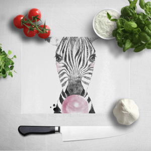 Bubblegum Zebra Chopping Board
