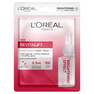 L'Oréal Paris Revitalift Brightening Sheet Masks (Pack of 5)