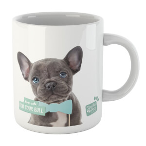Studio Pets Too Cute For Your Bull Mug